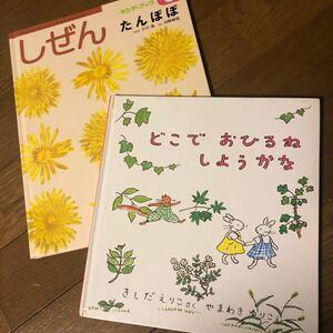 絵本2冊 2-4歳向け しぜん他
