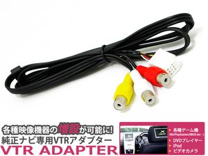メール便送料無料 VTR トヨタ ヴィッツ SCP90/NCP91/95/KSP90 H17.12~H22.12 映像 音声入力/外部入力ができる ビデオ入力コード