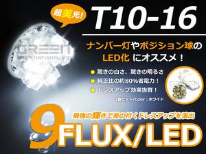 メール便送料無料 簡単交換 T10 9連 LEDポジションランプ 車幅灯 ランドクルーザー100 HDJ.UZJ10# H10.01~H19.08用 2個セット