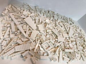LEGO ホワイト まとめ売り 1キロ kg ブロック 特殊パーツ プレート スロープ 1000グラム 大量 同梱可能 白 レゴ w1