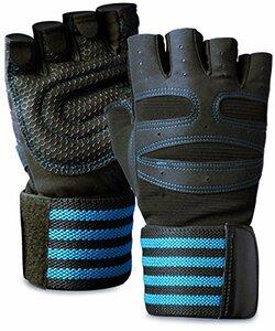 ACEFITS ブルー ACEFITS トレーニンググローブ ウェイトリフティング ジム グローブ 筋トレ 手首固定 リストラップ