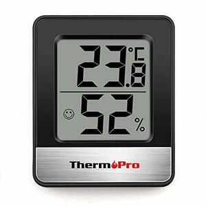 ブラック 温度計 湿度計室内 小さい温湿度計デジタル 見やすい TP49