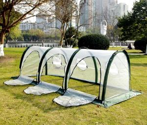 移動式トンネル ビニールハウス 菜園ハウス 温室 グリーンハウス ガーデンハウス 間口1m×奥行3m×高さ1mガラス繊維パイプ 保温ZY-14