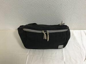 本物ポーターPORTERキャンバスショルダーバッグビジネスボディーウエストバックポシェット黒ブラックメンズレディース旅行トラベル日本製
