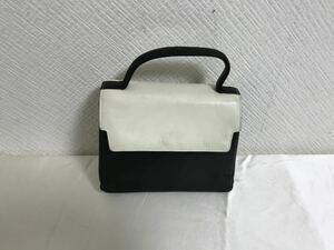 本物アニエスベーagnisb本革レザートートバッグビジネスハンドミニボストンバックレディース黒白ブラック旅行トラベルパーティー日本製
