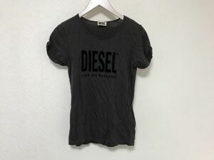 本物ディーゼルDIESELコットンロゴ半袖TシャツレディーススーツビジネスXSカーキグリーン