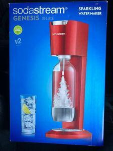 未使用 ソーダストリーム GENESIS ジェネシス sodastream スターターキット レッド 炭酸水メーカー DELUXE