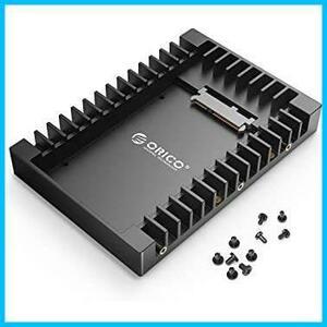 ORICO 2.5 → 3.5変換 2.5インチ HDD/SSD 変換マウンタ SATAインターフェース内蔵 HDDケース 3.5インチ 変換ブラケット ネジ付き ブラック