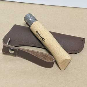 【新品・未使用】OPINEL N°07 ステンレス 折りたたみナイフ & ナイフケース【オピネル】【フォールディングナイフ】【INOX】【送料無料】