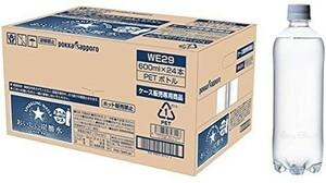 ☆新品+送料無料★サッポロ おいしい炭酸水 ラベルレス 600ml ×24本