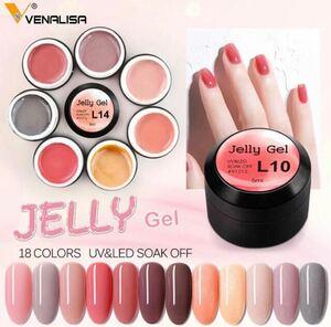 VENALISA シアーネイル ぷるぷるジェル jelly18色セット