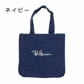 ロンハーマン Ron Herman エコバッグ レジ袋 トートバッグ 刺繍ロゴ入り キャンバス LA発 ユニセックス 男女兼用