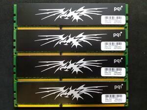 PQI made PC3-10600 ( DDR3-1333 ) 2GB DDR3 SDRAM 240pin 4 sheets set ( total 8GB) secondhand goods