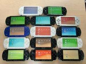 SONY PSP本体 14台まとめ売り 1000番14台 液晶割れ無し 動作確認済み バッテリーパック無し ゆうパック(お手軽版)発送