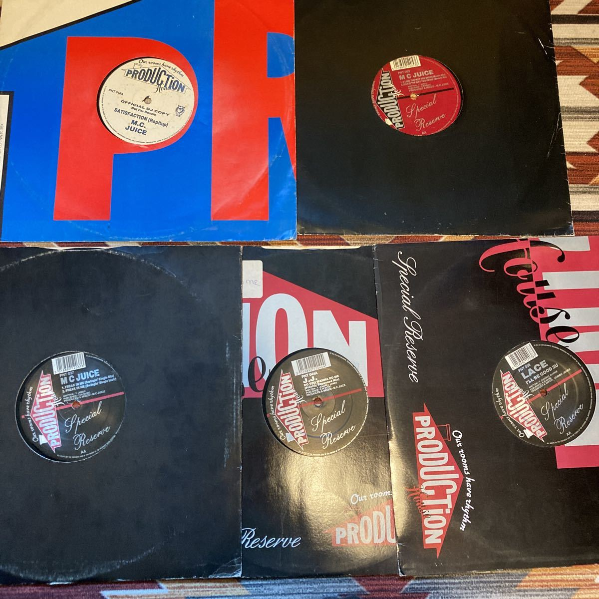 ※難アリ[人気盤レア盤5枚セット]M.C. Juiceなど ニュージャックスイング New Jack Swing RandB rnb UK ソウル