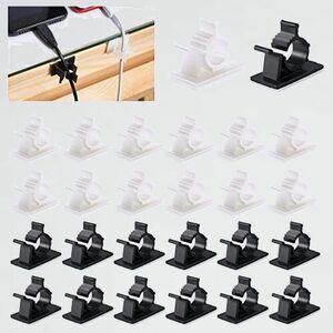 未使用 新品 4階段調節可能なケ-ブルホルダ- ケ-ブル収納、MAVEEK J-BL 白30個 黒30個 コ-ドクリップ コ-ドフック ケ-ブルクリップ