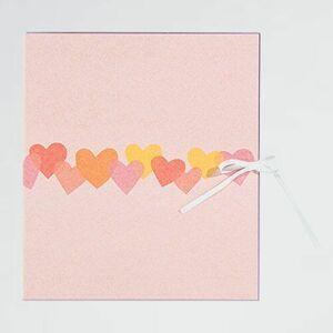 未使用 新品 色紙 ミドリ I-DK ハ-ト柄 33113006 カラ-色紙 二つ折り リボン