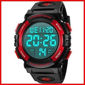 ★大特価★★色:3-レッド★ スポーツ 50メートル防水 デジタル おしゃれ CG-8u 多機能 メンズ LED表示 アウトドア 腕時計 腕時計(レッド)