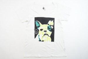 中古 13/14 VOLCOM ホワイト/Tシャツ レディースSサイズ スノーボード インナー ボルコム