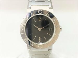 中古 美品 駆動OK BVLGARI ブルガリ ブルガリブルガリ BB26SSD SS デイト 2針 ブラック文字盤 レディース 腕 時計 クォーツ