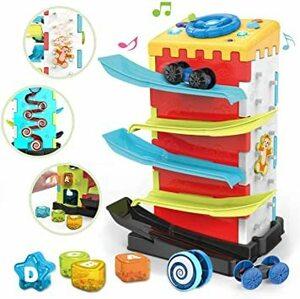 REMOKING 多機能 5の1 スロープトイ 早期教育 赤ちゃん おもちゃ 知育玩具 積み木 男の子 おもちゃ 女の子 音楽ラ