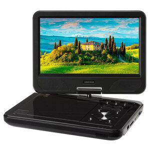送料無料 ポータブルDVDプレーヤー 10型ワイド モバイルバッテリー AC-USBアダプタ 等 対応 4WAY電源 ブラック GH-PDV10P-BK/6208