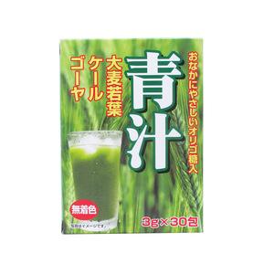 同梱可能 青汁 おなかにやさしいオリゴ糖入り青汁(大麦若葉+ケール+ゴーヤ) 3g×30包 0271x3個セット/卸