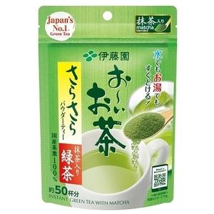 同梱可能 伊藤園 粉末インスタント 緑茶 お~いお茶 さらさら抹茶入り緑茶 40g 約50杯分 5292x2袋/卸