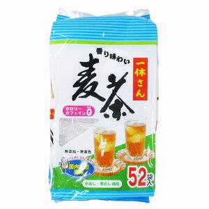 同梱可能 麦茶ティーバッグ むぎ茶 水出し/煮出しOK! 一休さん52Px6袋    国内焙煎 無添加・無着色