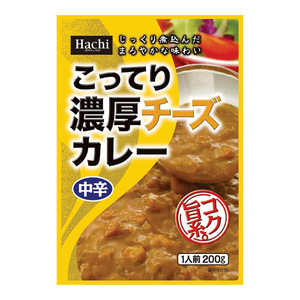送料無料メール便 レトルトカレー こってり濃厚チーズカレー 中辛x3食セット ハチ食品