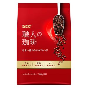 送料無料 UCC レギュラーコーヒー 職人の珈琲 中細挽 あまい香りのモカブレンド 300gx4袋セット/卸