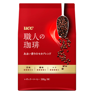 同梱可能 UCC レギュラーコーヒー 職人の珈琲 中細挽 あまい香りのモカブレンド 300gx4袋セット/卸