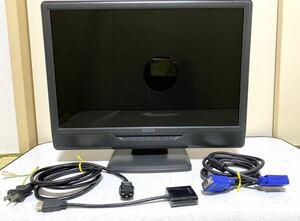 ☆19インチワイド 液晶モニター アイオーデータ(LCD-AD191XB )HDMI変換ケーブル付 VGA 電源ケーブル 動作確認済 I-O・データ機器