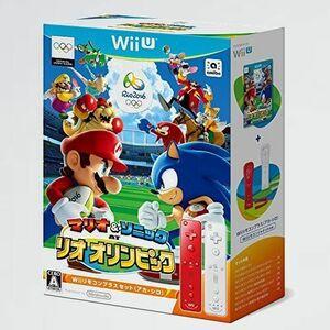新品 目玉 AT マリオ&ソニック C-UM Wii U リオオリンピック Wiiリモコンプラスセット(アカ・シロ) -