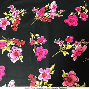 ロラライハリス Jumbo Floral  黒生地
