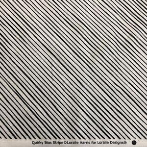 ロラライハリス Quirky bias stripe ホワイト生地