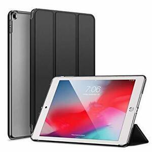 カバー.ダークブラック KENKE iPad 9.7 2017/2018 ケース 軽量 薄型 耐衝撃 放熱 三つ折りスタンド オ