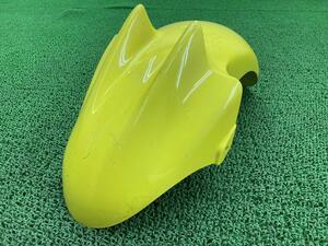 中古 ヤマハ 純正 バイク 部品 マジェスティ125 フロントフェンダー 純正 黄 5CA ペイント素材に 割れ欠け無し 品薄 希少品 車検 Genuine