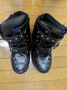 YOSUKE ヨースケ 厚底ショートブーツ レディース 23.0cmくらい サイズ表記無し かかと~つま先までの靴全長27cm 厚底14cm