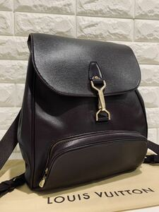 【 LOUIS VUITTON 】極上美品 ! ルイヴィトン タイガ レザー カシアー リュックサックバッグ 定価約16万