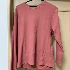 ニット生地のロングTシャツ