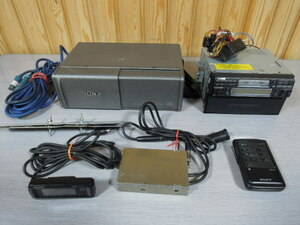 SONY  Sony Corporation  XR-C515 1DIN  комар  набор  дека  CDX-A11RF 10 стопа  CD  переключатель  10 DISC MAGAZINE  набор   б\у   Пульт ДУ   монитор  есть  7253