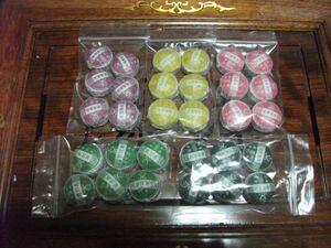上海茶叶市場 小沱茶  五種類 各6粒  サービス品6粒  合計 36粒