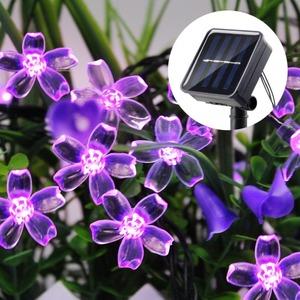 LDL572#100LED★お花のガーデンライト ソーラーライト 屋外照明 かわいい 太陽光 防水 LED ガーデニング 装飾 クリスマス 庭