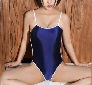 超セクシー コスプレ衣装 水着 コスチューム 過激デザイン ナイトウェア スク水 RQ 超ハイレグ レオタード ネイビー YWQ625