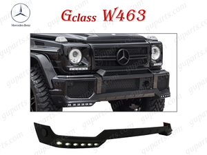 ◆ ベンツ G ゲレンデ W463 '16~'19 後期 AMG フロント バンパー リップ スポイラー アンダー LED ドレスアップ G55 G63 エアロ パーツ