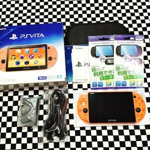 【美品】PS Vita Wi-Fiモデル PCH-2000 SONY PlayStation Vita ネオンオレンジ ソニー