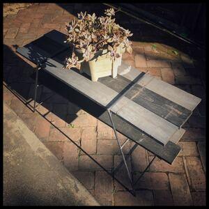 送料無料 アイアンレッグ 2脚セット キャンプ アウトドア テーブル DIY 軽量 コンパクト ラック 収納 バーベキュー 鉄脚 中サイズ シェルフ