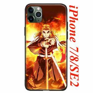 【新品】鬼滅の刃 iPhone7/8/SE2 スマホケース《 煉獄杏寿郎 》◆ 無限列車