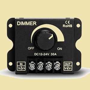 在庫残りあと僅か DC12-24V LED調光器 V-S7 取り付け簡単 入り組んだ配線工事なし 大容量30A ディマ-スイッチ調光コントロ-ラ-